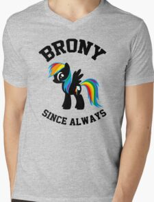 Brony college university - since always Mens V-Neck T-Shirt