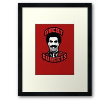 Borat - Great Success Framed Print