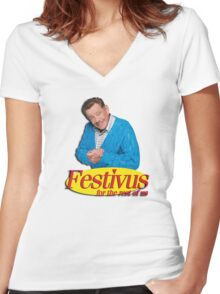 Frank Costanza - Festivus for the rest of us Women's Fitted V-Neck T-Shirt