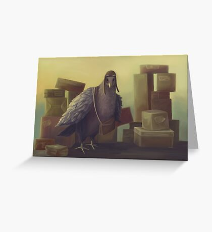 Messenger-pigeon Greeting Card