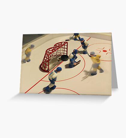 ice hockey goal Greeting Card