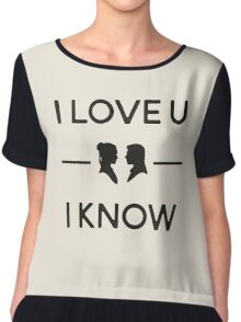 Star Wars - I Love You, I Know (Black) Chiffon Top