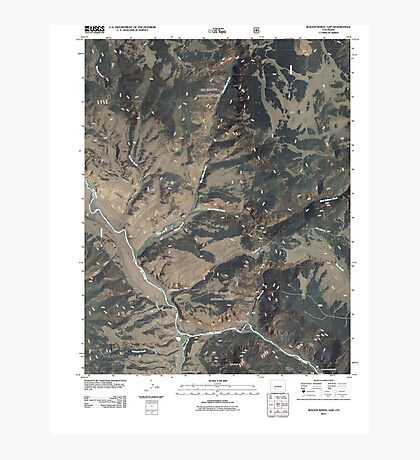 USGS TOPO Map Colorado CO Wagon Wheel Gap 20110120 TM Photographic Print
