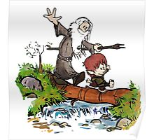 Gandalf and Bilbo Calvin and Hobbes Poster