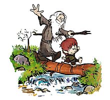 Gandalf and Bilbo Calvin and Hobbes Photographic Print