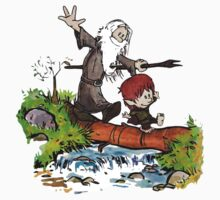 Gandalf and Bilbo Calvin and Hobbes by AkumaKuma