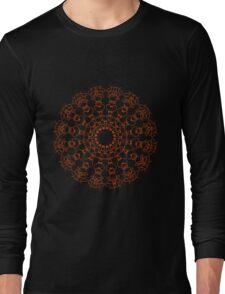 Red Mandala 002 Long Sleeve T-Shirt