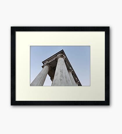 column triumphal arch Framed Print