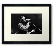 The wonderful Jimmy Cliff 11 (n&b)(t) by expressive photos ! Olao-Olavia by Okaio Créations  Framed Print