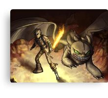 httyd2: to battle Canvas Print