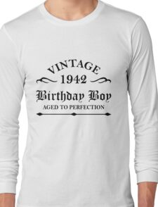Vintage 1942 Birthday Boy Aged To Perfection Long Sleeve T-Shirt