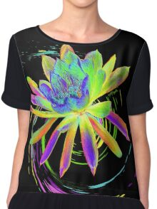 Psychedelic Tropical Flower  Chiffon Top
