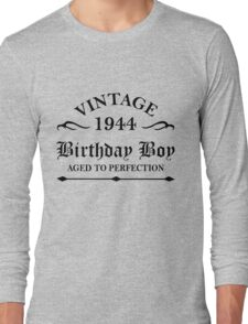Vintage 1944 Birthday Boy Aged To Perfection Long Sleeve T-Shirt