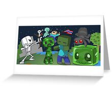 Mine Space Invasion Greeting Card