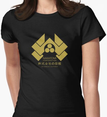 Nakatomi Corporation - Gold Variant Womens Fitted T-Shirt