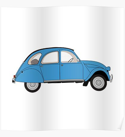 Car 01 - light blue Poster