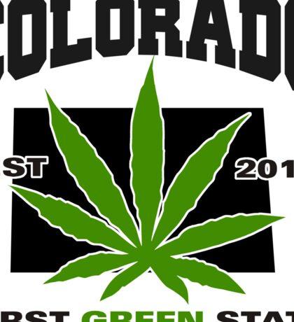 Marijuana Colorado First Green State Est 2012 Sticker