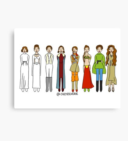 The Many Looks of Leia Canvas Print