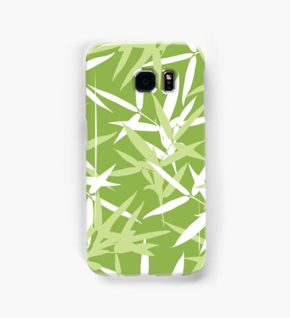 Green Bamboo Leaves Unique Pattern Samsung Galaxy Case/Skin