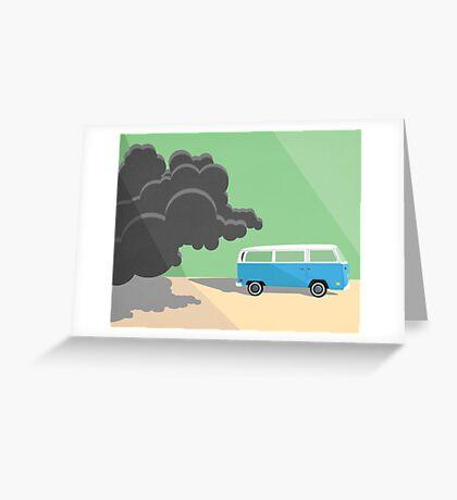 Dharma Van vs Smoke Monster Greeting Card