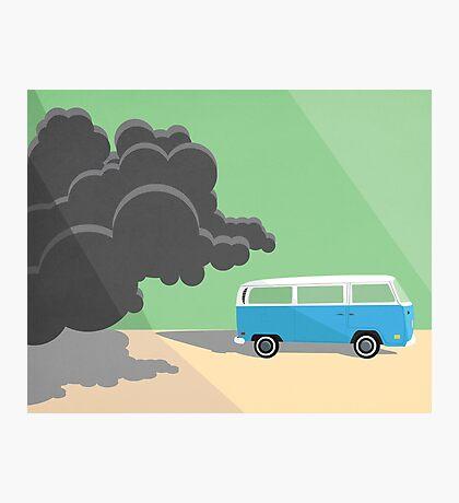 Dharma Van vs Smoke Monster Photographic Print
