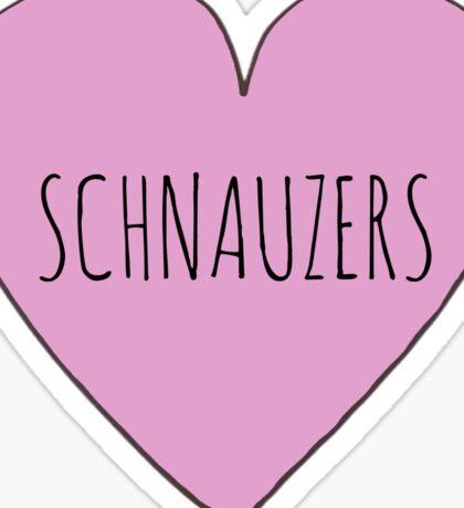 Schnauzer Love Sticker