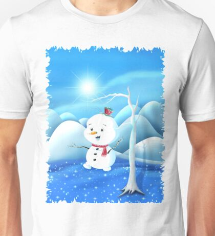 Snowbaby on Sparkling Ice Unisex T-Shirt
