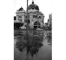 Rainy Day - Flinders Street Station, Melbourne Photographic Print
