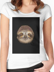 Living the Life Sloth  Women's Fitted Scoop T-Shirt