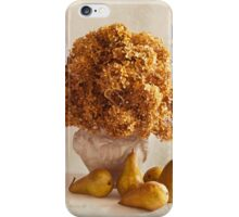 Dried Hydrangeas And Pears Still Life  iPhone Case/Skin