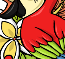 The Powerful Parrot Sticker