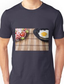 Closeup view on natural homemade breakfast Unisex T-Shirt
