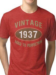 Vintage 1937 Birthday Tri-blend T-Shirt