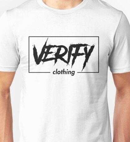 """Verify"" On White T-Shirt Unisex T-Shirt"