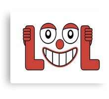 Laughing Out Loud Illustration Canvas Print