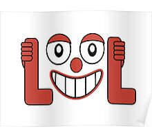 Laughing Out Loud Illustration Poster