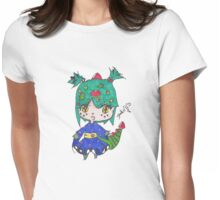 Dragon chibi girl  Womens Fitted T-Shirt