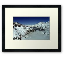 In the Hall of the Mountain King- Top of the Tasman Framed Print