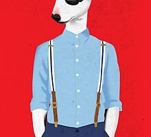 Skinhead Bull Terrier by drawgood