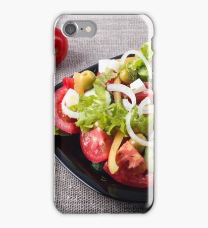 Small bowl of salad made from natural raw vegetables iPhone Case/Skin