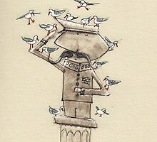 The hero honoured by the local birdlife by 15mindrawings