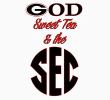Georgia - God, Sweet Tea, & the SEC Womens Fitted T-Shirt