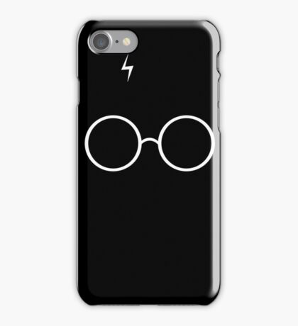 Black Harry Potter Glasses iPhone Case/Skin