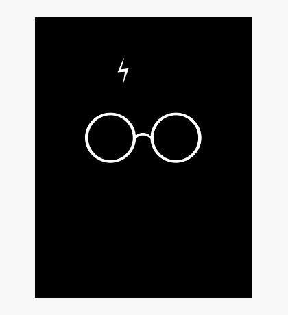 Black Harry Potter Glasses Photographic Print