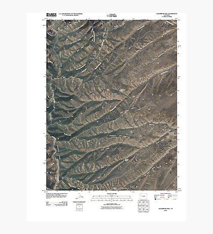 USGS TOPO Map Colorado CO Sagebrush Hill 20100901 TM Photographic Print