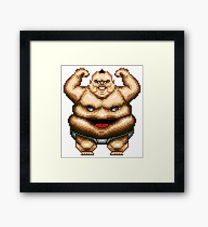 Tongue of the Fatman/Slaughter Sport - SEGA Genesis Sprite Framed Print