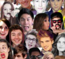 Youtuber Collage Sticker