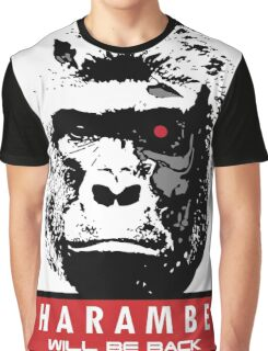 Cyborg Harambe Graphic T-Shirt