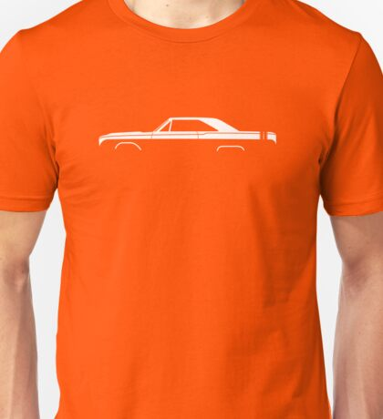 Car silhouette for 1968 Dodge Dart GTS enthusiasts Unisex T-Shirt