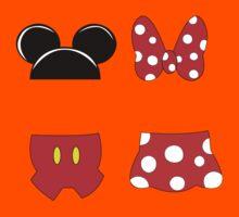 Mickey and Minnie Icons Kids Tee
